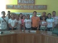 Reunião dos Agentes de Saúde e o presidente Péricles Ramalho